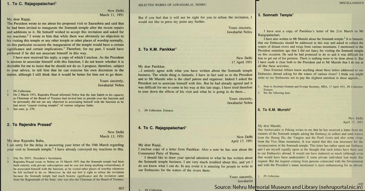 Nehru's letters