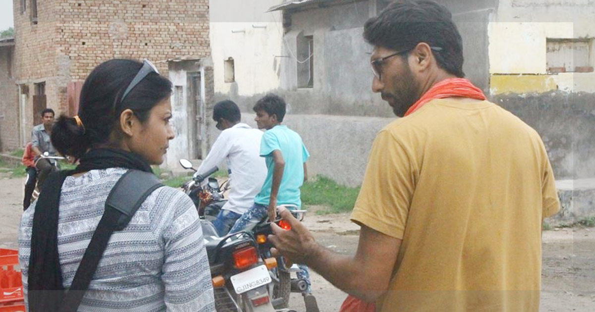 Damayanti Dhar with Dalit leader Jignesh Mevani